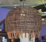 CC1011-1, Rattan Round Hanging Lamp-Brown,  Pricing & Availability Upon Request