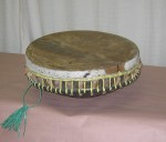"CC1011-14, Indonesian Drum w/ Skin, 17 1/2"" Diameter x 4 1/2"" OAH,  Pricing & Availability Upon Request"