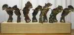 "CC1011-21, Wayang Puppets On Base, 44 1/2"" x 5 1/2""x 21""OAH,  Pricing & Availability Upon Request"