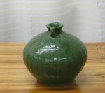 "CC1011-57-A, Green Ceramic Pot, 5 1/2""x 4 1/2""H,  Pricing & Availability Upon Request"