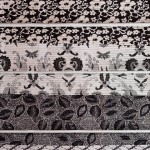 "CC1011-95, Black & White Batik Cotton Carpet, Sizes Vary, Approx 77"" x 39"", Pricing & Availability Upon Request"