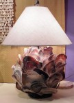"CC1112-3, Abalone Shell Lamp, 17"" Diameter x 14"" High, OAH w/ Shade 26"",   Pricing & Availability Upon Request"