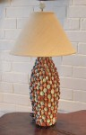 "CC1112-4, Shell Table Lamp, 7 1/2"" Diameter x 18"" Base Height,  Pricing & Availability Upon Request"