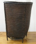 "CC312-88, Balinese Footed Produce Basket Made From Bamboo, 16"" x 21"", Pricing & Availability Upon Request"
