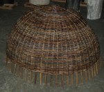 CC412-1, Large Rattan Hanging Lamp, Croco Finish,  Pricing & Availability Upon Request