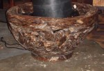 "CC813-33, Large Teak Root Bowl 32"" diameter x 17"" high, Pricing & Availability Upon Request"