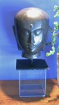"CC912-10, Stone Buddah Head On Stand, 9 3/4"" Sq. Base x 18""H,  Pricing & Availability Upon Request"