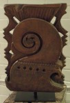 "CC912-16, Old Teak Carving On Stand, 14""x4""x22""OAH,  Pricing & Availability Upon Request"