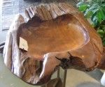 "CC912-22, One Piece Teak-Shaped Bowl, 28 1/2""x 27""x 8""H,  Pricing & Availability Upon Request"