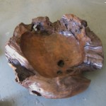 "CC912-22, Large One Piece Teak-Shaped Bowl, 30 1/2""x 26""x 9""H,  Pricing & Availability Upon Request"