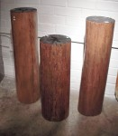"CC912-34-A, Teak Column, 10""x 39 1/2""H, CC912-34-B, Teak Column, 10 1/4""x 38""H,  CC912-34-C, Teak Column, 11""x 31""H,  Pricing & Availability Upon Request"