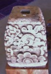 "CC912-60, Carved Stone Pillar Base, 11""x 12""x 17""H,  Pricing & Availability Upon Request"