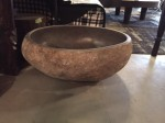 "CC912-7-A, Large Stone Bowl w/ Polished Interior-Oval, 28""x 23""x12"", Pricing & Availability Upon Request"