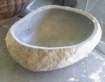 "CC912-7-B, Large Stone Bowl w/ Polished Interior-Oval, 32""x21 1/2""x13 1/2""H,  Pricing & Availability Upon Request"