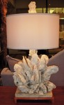 """CCSW414-1, Handcrafted Shell Lamp, Base is 6"""" x 12"""" x18""""  x 31"""" OAH w/ Shade, Pricing & Availability Upon Request"""