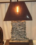 """CCSW414-3, Handcrafted Shell Lamp, Base 12"""" x 6"""" x 25"""" OAH w/ Shade, Pricing & Availability Upon Request"""