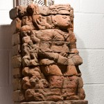 Stacked terra cotta carving