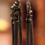 Carved hair pins