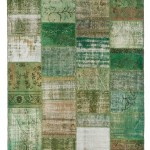 """CC2589, Antique Turkish Rug-Patchwork Design, 6' 9""""x 9' 10"""", Pricing & Availability Upon Request"""