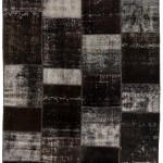 "CC2584, Antique Turkish Rug-Patchwork Design, 6' 9"" x 9' 10"", Pricing & Availability Upon Request"