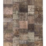 "CC2575, Antique Turkish Rug-Patchwork Design, 5' 7"" x 7' 11"", Pricing & Availability Upon Request"