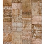 "CC2576, Antique Turkish Rug-Patchwork Design, 5' 8""x 7' 11"",Pricing & Availability Upon Request"