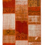 "CC2562, Antique Turkish Rug-Patchwork Design, 4' 1"" x 5' 11"", Pricing & Availability Upon Request"