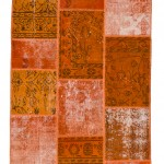 "CC2566, Antique Turkish Rug-Patchwork Design, 4'1""x6', Pricing & Availability Upon Request"