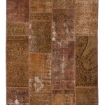 "CC2567, Antique Turkish Rug-Patchwork Design, 4' 11""x 6' 8"", Pricing & Availability Upon Request"