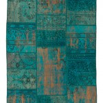 "CC2561, Antique Turkish Rug-Patchwork Design, 4' 1""x 6' 1"", Pricing & Availability Upon Request"