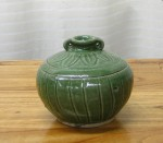"CC1011-57-A, Green Ceramic Pot, 5 1/4""x 4 1/2""H,  Pricing & Availability Upon Request"