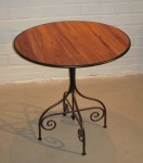 "Arrow Round Side Table w/ Teak Top, 27 1/2"" Diameter x 28""High,  Pricing & Availability Upon Request"