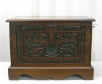 "CC1011-18, Indonesian Trunk w/ Carving, 25""x 14 1/2""x 18""H,  Pricing & Availability Upon Request"