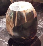 "CC312-10, Petrified Wood w/ Polish Oval, Black & Caramel, 17""x 19""H, Pricing & Availability Upon Request"