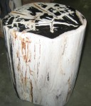 "CC312-30, Petrified Wood-WP, Ivory & Black, 11""x 9""x 18""H, Pricing & Availability Upon Request"