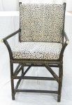 CC312-77, Timor Chair, Mocha Finish, Stenciled Hide,  Pricing & Availability Upon Request