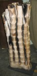 "CC312-95, Petrified Wood-Carved Bamboo Motif, 16""x 9""x 39""H, Pricing & Availability Upon Request"