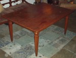"CC813-19, One piece teak top dining table w/ drawer, 64 1/2""x 45 1/4""x 30 1/2"", Pricing & Availability Upon Request"
