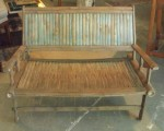 "CC813-7-A, Bamboo Child's Settee, 39 1/2""x 23""x 29"", SH 13 1/2""x AH 20 1/4"", Pricing & Availability Upon Request"