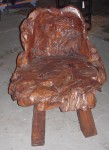 "CC813-8, Teak root chair, 29""x 29 1/2""x 31 3/4"", seat height 17"", Pricing & Availability Upon Request"
