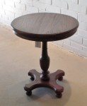 "CC912-39, Old Colonial Teak Pedestal Table, 25 1/2"" Diameter x 28 3/4""H,  Pricing & Availability Upon Request"