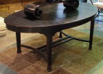"CC912-46, Teak Oval Dining Table-Black Finish, 73"" x 43"" x 29 ¼"", Pricing & Availability Upon Request"