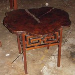 "CC912-64, C+C Drink Table w/ Tamarind Wood Top, 29"" x 21 ¼"" H Base is 16"" Sq., Pricing & Available Upon Request"