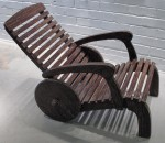 CC912-76, Teak Wheel Deck Chair Side View,  Pricing & Availability Upon Request
