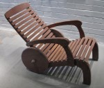 CC912-77, Teak Wheel Deck Chair Side View,  Pricing & Availability Upon Request