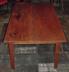 "CC813-21, Teak dining table w/ 2 pc plank top, 39""x 69""x 30 1/2"", Pricing & Availability Upon Request"